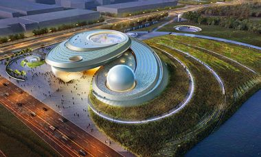 World's largest planetarium moves closer to completion in Shanghai