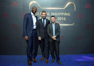 Beckhams and Kobe Bryant attend Double 11 pre-party