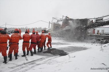 22 miners trapped underground after fire in Chinese coal mine