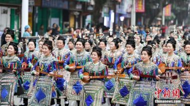 China's Dong ethnic group celebrate ancient Sama Festival
