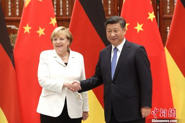 Xi talks to Merkel and Macron about Korean nuclear issue