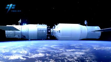 China's Tianzhou-1 cargo craft and Tiangong-2 space lab perform final orbital docking