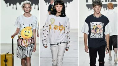 Chinese designer showcases emoji-inspired collection at NY Fashion Week