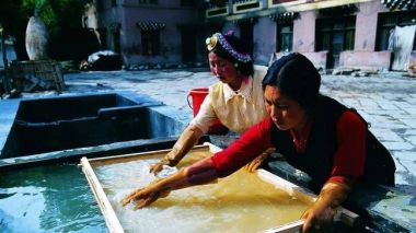Leafing through Tibet's paper making tradition