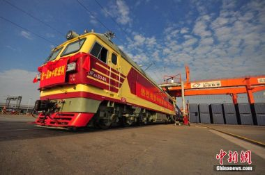 China-Europe freight trains celebrate 10,000th trip