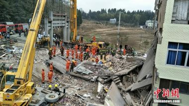 Seven killed in east China building collapse