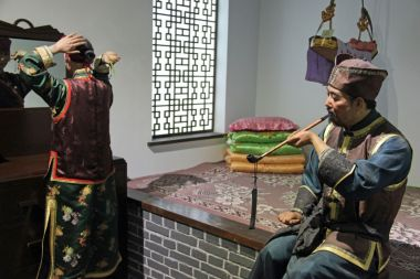 Ethnic minority waxworks a Xinjiang museum highlight