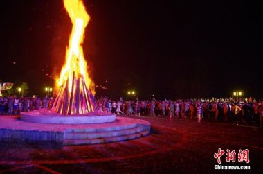 Minority Yi celebrate Torch Festival in southwest China