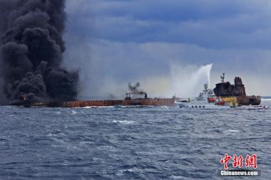 Oil slicks from sunken tanker Sanchi cover area larger than Paris