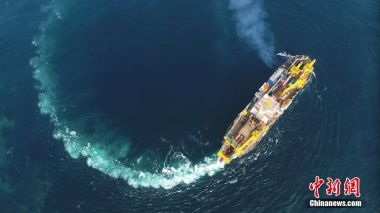 Asia's largest 'island maker' finishes first sea trial