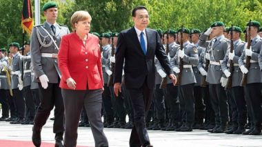 Chinese, German leaders hail free trade system