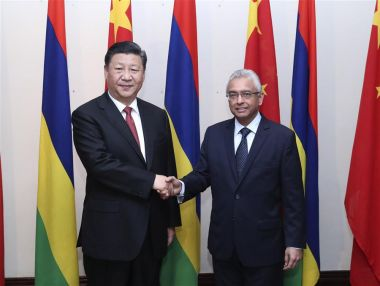 Xi Jinping meets Mauritian PM before returning to China