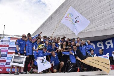 Round the world yacht race won by Chinese-sponsored team