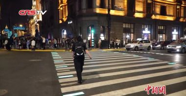First illuminated pedestrian crossing introduced in south China