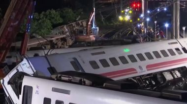 Taiwan train derailment kills at least 18, injures 168