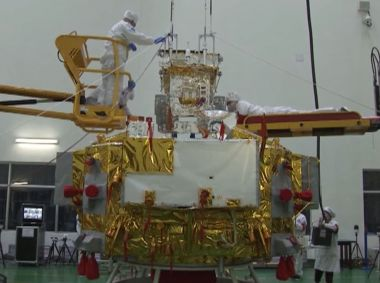 Here's a close-up look at the Chinese Chang'e-4 Moon lander and rover
