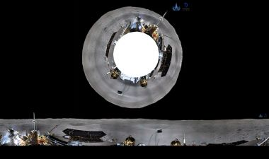 First lunar far side panoramas returned from Chang'e-4 lander