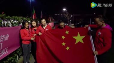 Chinese pole dancers quit contest over lack of flag