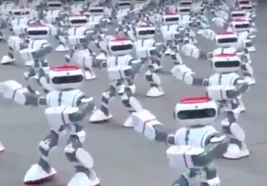 1,069 dancing robots break Guinness World Record