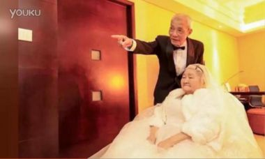 Elderly couple's grand Valentine's Day love story