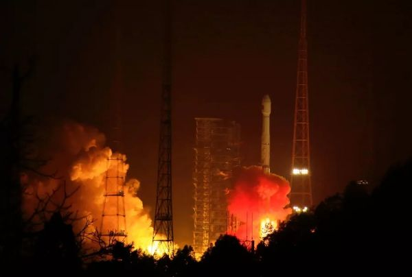 Rocket booster drops from sky and explodes near town after Chinese space launch