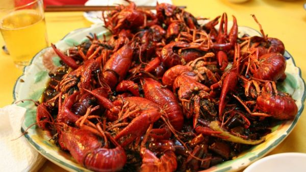 Crayfish was China's most popular dish in 2017