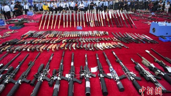 Over 140,000 weapons publicly destroyed by Chinese police