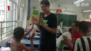 Eleven-year-old Chinese primary school boy already stands 2.06 metres tall