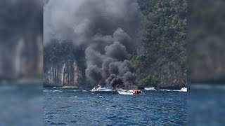 Five Chinese tourists seriously injured in Thai speedboat explosion