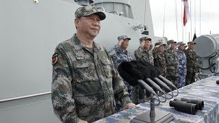 Chinese President Xi Jinping inspects huge naval drills in South China Sea