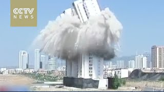 Skyscraper demolished as part of Datong city facelift (video)