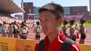 Two medals for China at World U20 Championships in Finland
