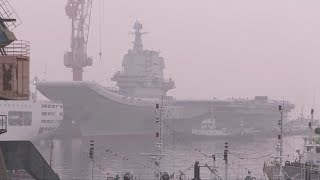 China's first domestic-built aircraft carrier begins sea trials