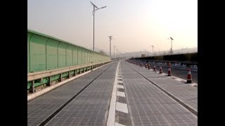 China opens its first solar panel motorway