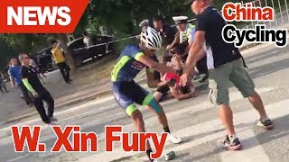 Chinese cyclist allegedly attacks members of rival team in shocking video
