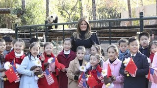"Melania Trump at Beijing Zoo: ""You have a panda here, we have an eagle in the US"""